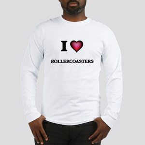 I Love Rollercoasters Long Sleeve T-Shirt