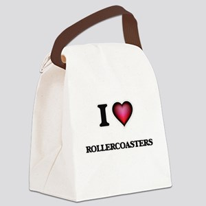 I Love Rollercoasters Canvas Lunch Bag