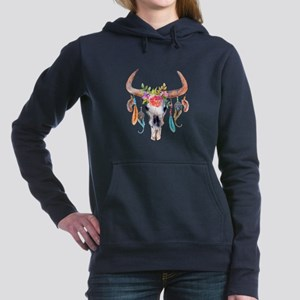 Buffalo Skull Women's Hooded Sweatshirt