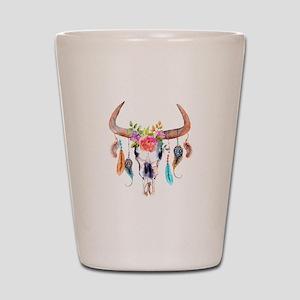 Buffalo Skull Shot Glass