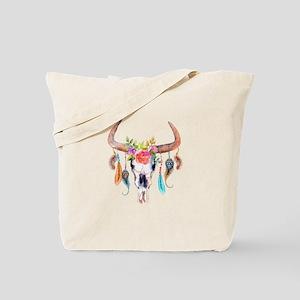Buffalo Skull Tote Bag