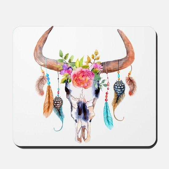 Buffalo Skull Mousepad