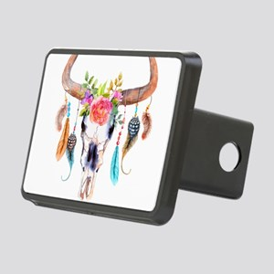 Buffalo Skull Rectangular Hitch Cover