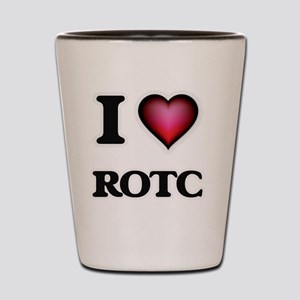 I Love Rotc Shot Glass