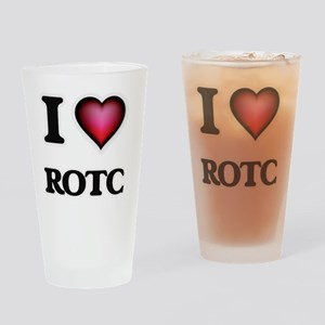 I Love Rotc Drinking Glass