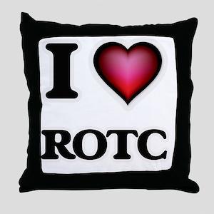 I Love Rotc Throw Pillow