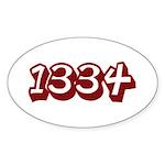LEET Oval Sticker