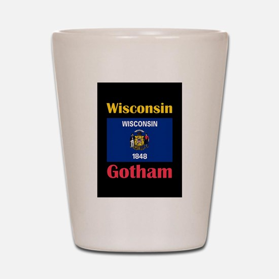 Gotham Wisconsin Shot Glass