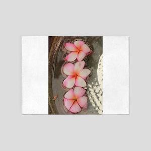 pink Hawaiian flow 5'x7'Area Rug