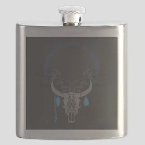 Buffalo Skull Flask