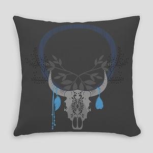 Buffalo Skull Everyday Pillow
