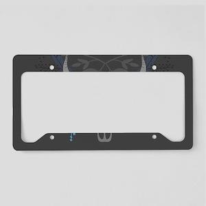 Buffalo Skull License Plate Holder
