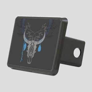 Buffalo Skull Rectangular Hitch Cover
