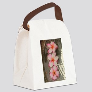 pink Hawaiian flow Canvas Lunch Bag