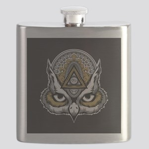 Owl Art Flask