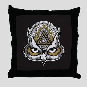 Owl Art Throw Pillow