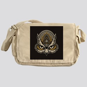 Owl Art Messenger Bag