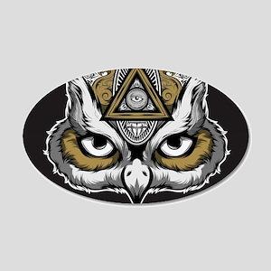 Owl Art 20x12 Oval Wall Decal