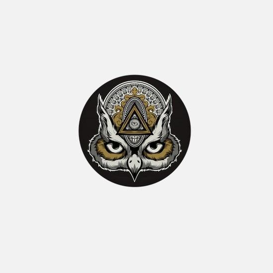 Owl Art Mini Button