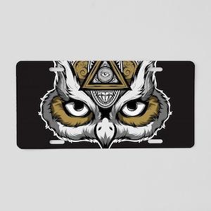 Owl Art Aluminum License Plate