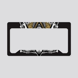 Owl Art License Plate Holder