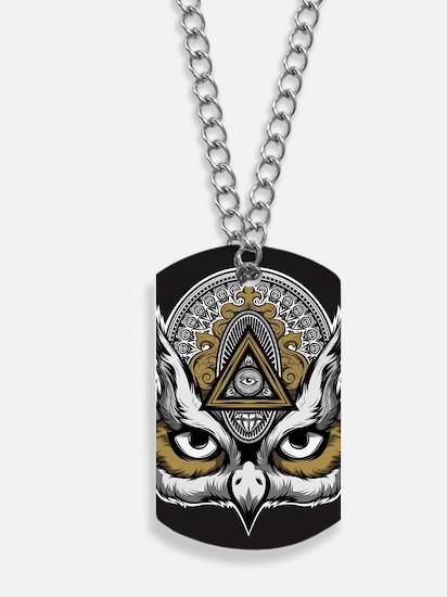 Owl Art Dog Tags