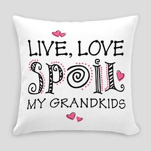 Live Love Spoil Grandkids Everyday Pillow