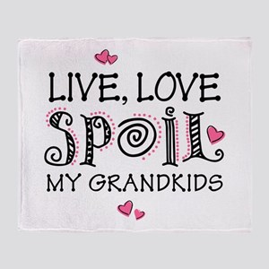 Live Love Spoil Grandkids Throw Blanket
