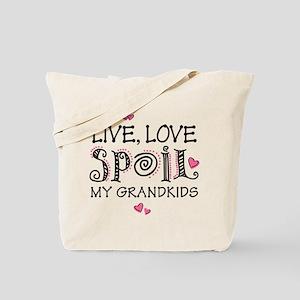 Live Love Spoil Grandkids Tote Bag