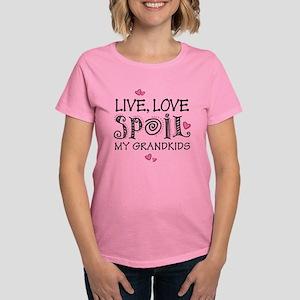 Live Love Spoil Grandkids Women's Dark T-Shirt
