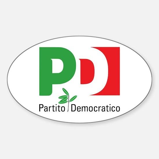 Partito Democratico Sticker (oval)
