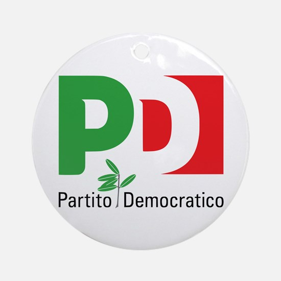 Partito Democratico Round Ornament