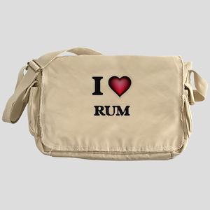 I Love Rum Messenger Bag