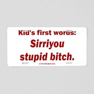 Kid says Sirri Aluminum License Plate