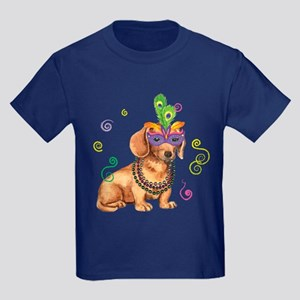 Party Dachshund Kids Dark T-Shirt