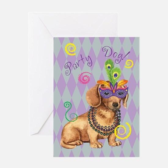 Party Dachshund Greeting Card