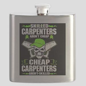 Skilled Carpenters skull Flask