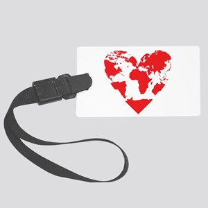 Love the World Large Luggage Tag