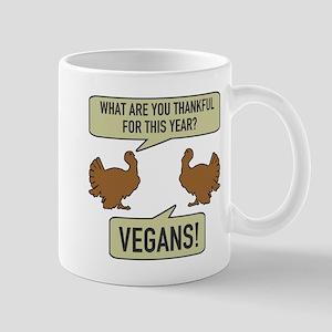 Thankful For Vegans Mugs