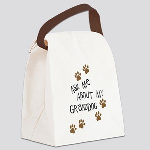 Ask Me About My Granddog Canvas Lunch Bag
