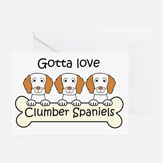 Cute Clumber christmas Greeting Card