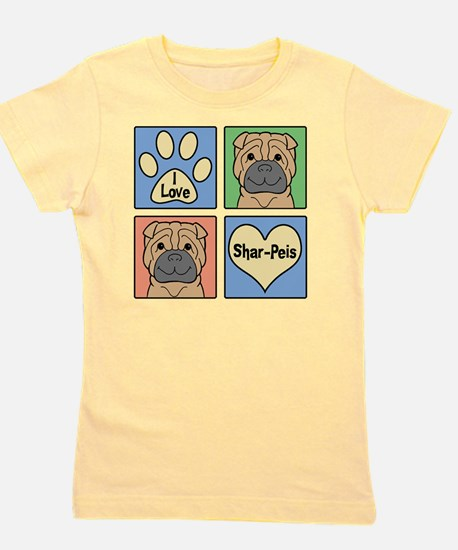 Unique Shar pei dog Girl's Tee