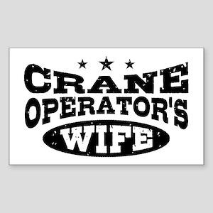 Crane Operator's Wife Sticker (Rectangle)