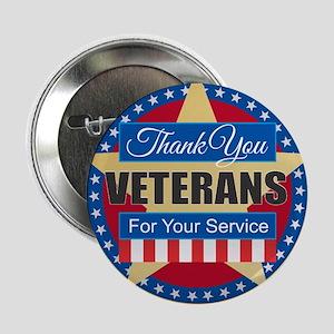 """Thank You Veterans 2.25"""" Button"""