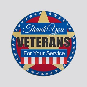 Thank You Veterans Button