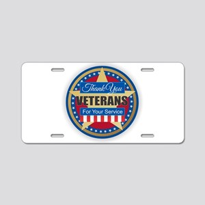 Thank You Veterans Aluminum License Plate