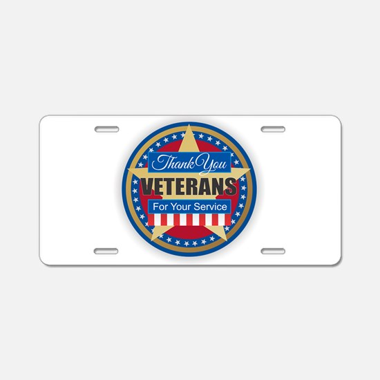 Thank You Veterans Aluminum License Plate