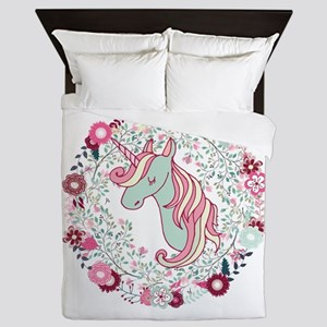Sweet Unicorn Queen Duvet