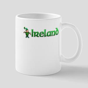 Ireland T-shirt with Leprechaun Mug