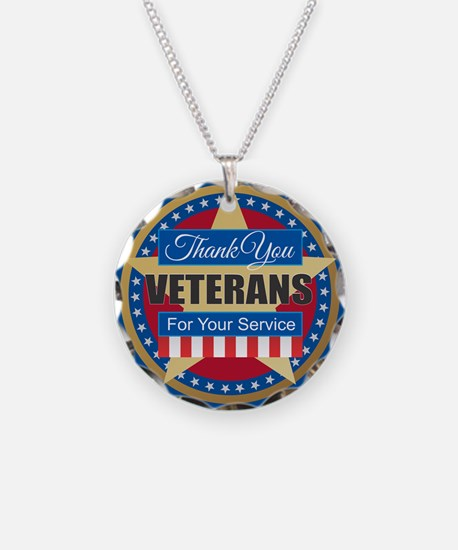 Thank You Veterans Necklace